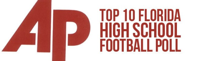 Associated Press Top 10 Florida High School Football Poll – Week 7