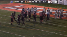 Dreadnaught Players Dance to the Slide while Officials Work