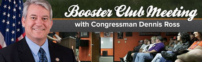 Booster Club Meeting with Congressman Dennis Ross