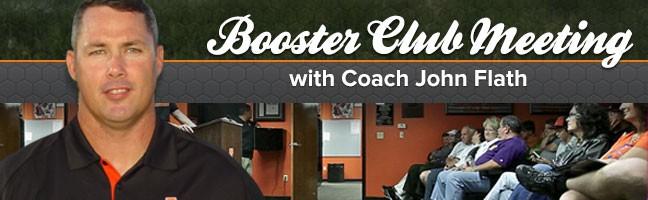 Booster Club Meeting with Coach John Flath
