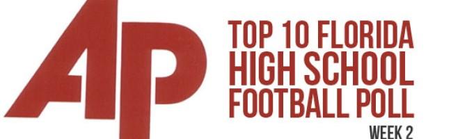 Associated Press Top 10 Florida High School Football Poll